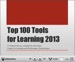 Too 100 Tools for Learning 2013