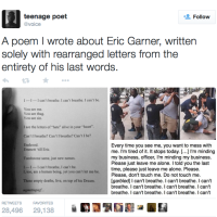 I Can't Breathe | A Young Poet's Voice