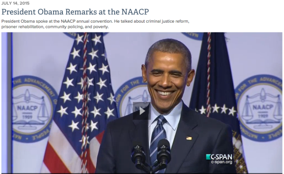 Barack Obama and the NAACP July 2015